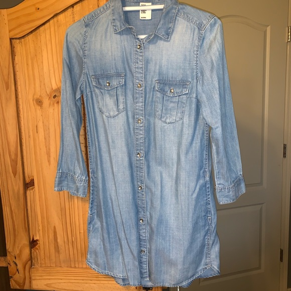 H&M Tops - Sand washed Lyocell denim tunic